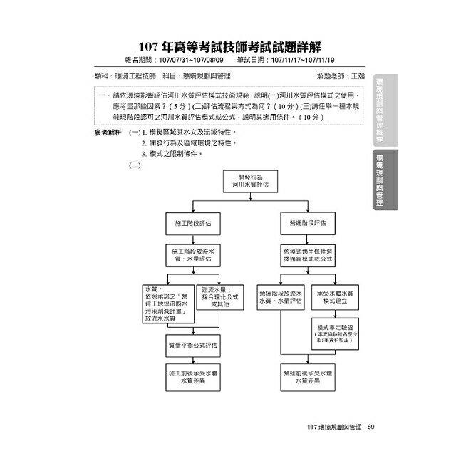 公職考試2019試題大補帖【環境規劃與管理】102~107年試題 3
