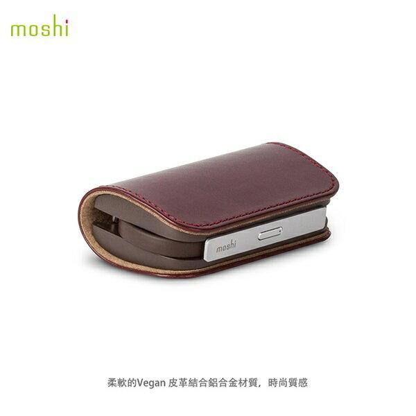 Moshi IonBank 3K 便攜式 質感 iPhone 行動電源 皮革紅