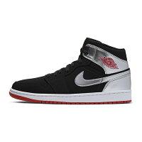【NIKE】AIR JORDAN 1 MID 運動鞋 飛人 中筒 籃球鞋 灰 黑 男鞋 -554724057-動力城市-潮流男裝