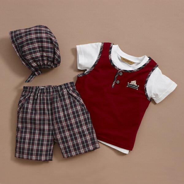 【金安德森】春夏新生兒套裝禮盒-男孩運動風T恤+背心