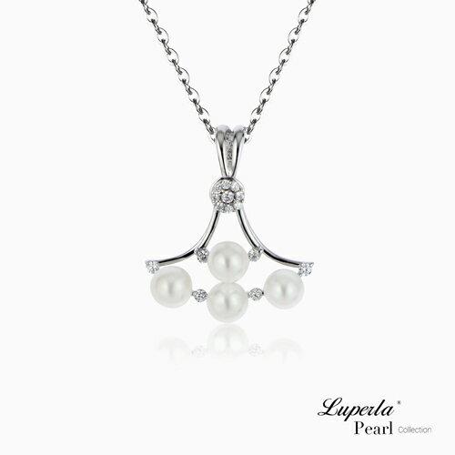 大東山珠寶 純潔浪漫 純銀晶鑽珍珠項鍊 0