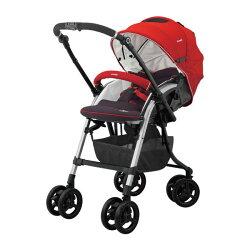 【買就送手把套】康貝 Combi Diaclasse FE 500 雙向秒收嬰兒手推車 珊瑚紅~麗兒采家