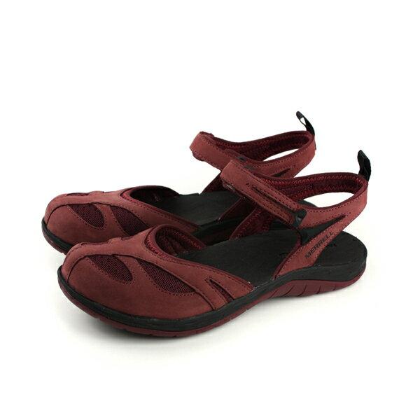 MERRELLSIRENWRAPQ2涼鞋水陸深紅色女鞋ML12704no910