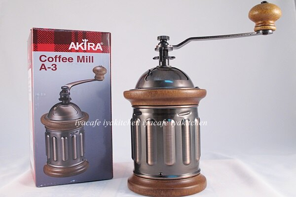 《愛鴨咖啡》AKIRA A-3 磨豆機 A3圓銅磨豆機 復古 手搖 贈清潔毛刷