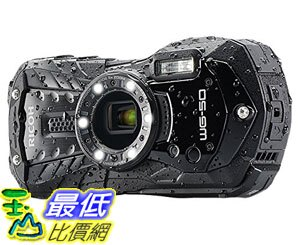 [107美國直購] 相機 Ricoh 16 Waterproof Still/Video Camera Digital with 2.7吋 LCD, Black (WG-50 black)