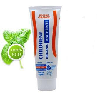 【好優Hoyo】澳洲原裝Baby Organics 純天然95%有機幼童牙膏(橘子口味) 100g