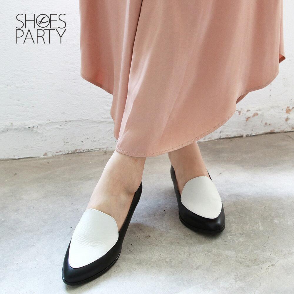 【P2-19427L】真皮配色復古爵士鞋_Shoes Party 2