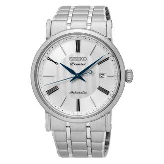 Seiko 精工錶4R35-01C0S(SRPA17J1)纖薄羅馬紳士機械腕錶/白面41mm