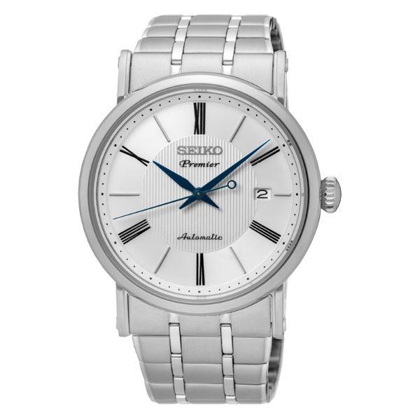 Seiko精工錶4R35-01C0S(SRPA17J1)纖薄羅馬紳士機械腕錶白面41mm