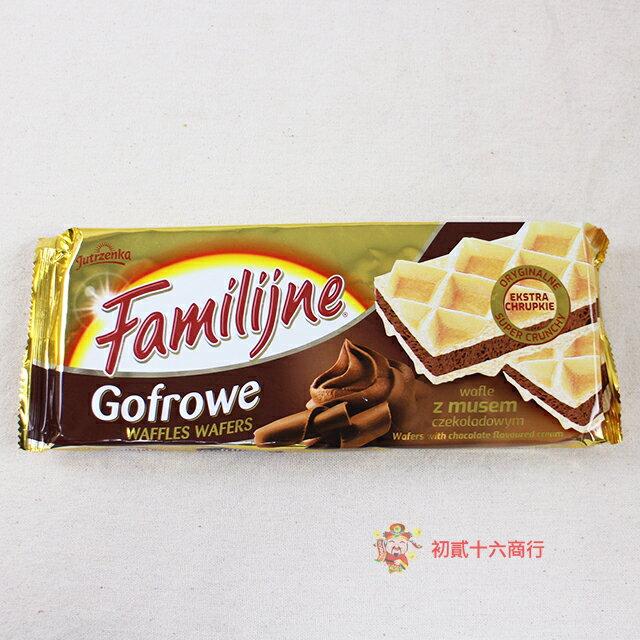 波蘭Familijne_歡樂鬆餅夾心酥(香草口味)130g