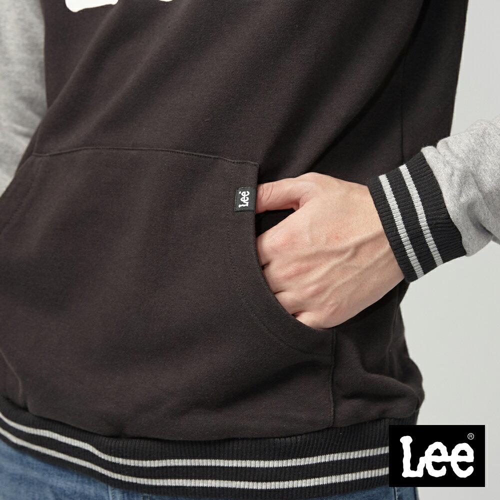 Lee 大LOGO長袖連帽TEE恤 / RG 3
