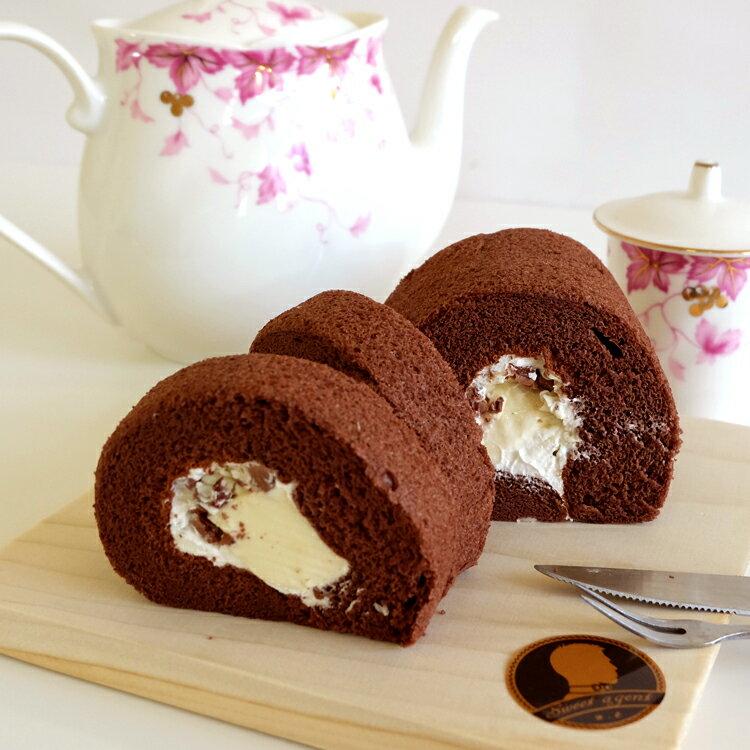 【甜點特務】[ 雲朵般の雷雲巧克力奶凍捲 ] 棉花巧克利蛋糕 + 鮮奶油+巧克力脆片 3