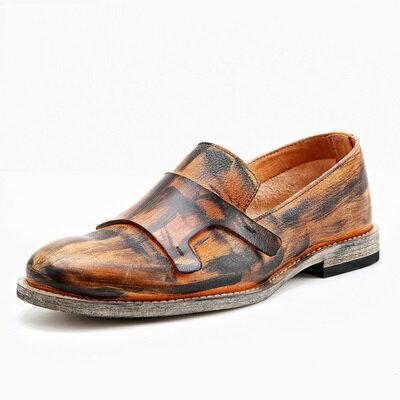 短靴真皮套腳靴子-英倫時尚復古做舊擦色男靴2色73kk98【獨家進口】【米蘭精品】
