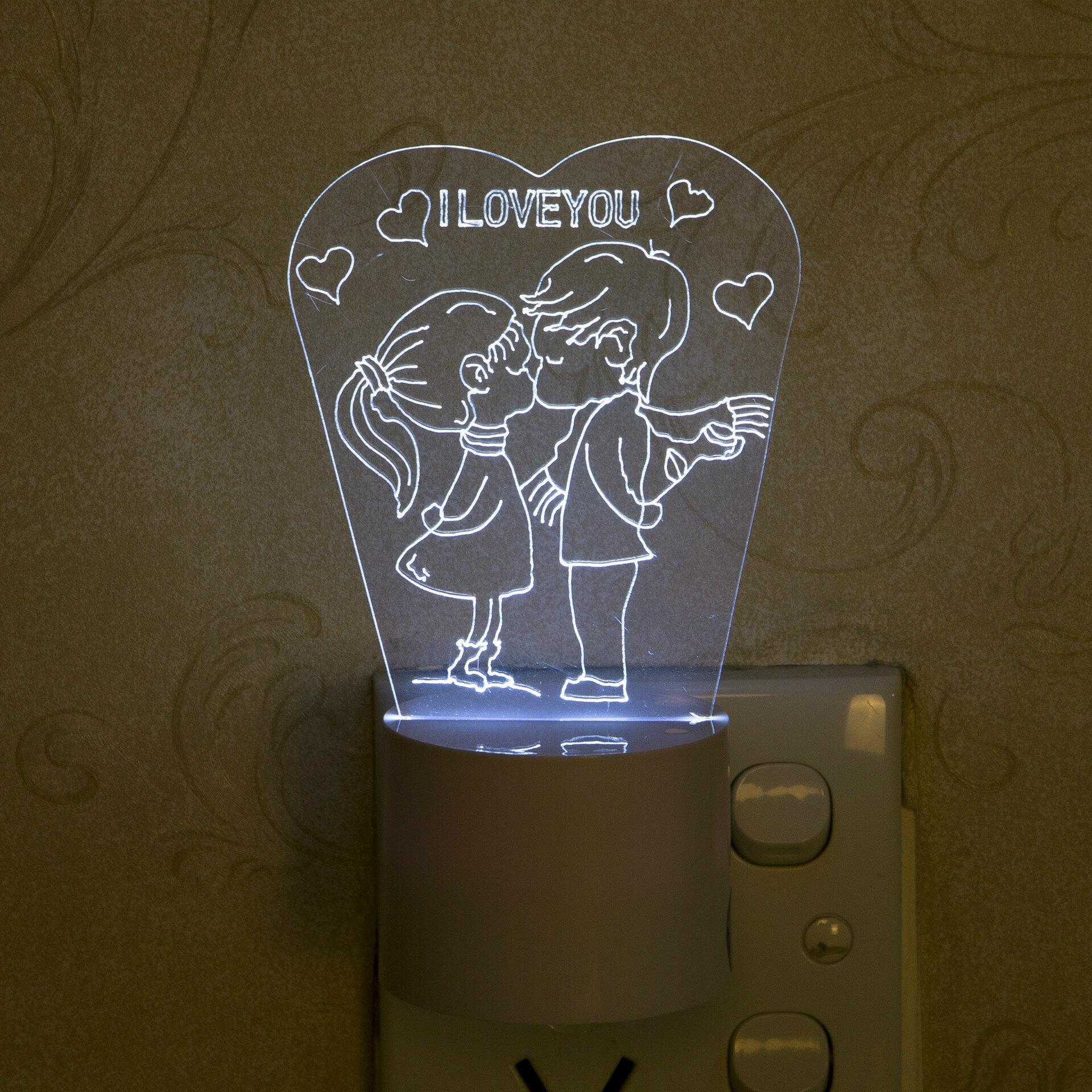 【愛家便宜購】(熱銷預購)創意插電款3D感應小夜燈LED燈(床頭/牆壁小夜燈)