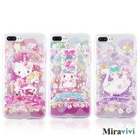 美樂蒂手機配件推薦到Sanrio三麗鷗iPhone 7 Plus(5.5吋)繁花彩繪空壓保護套就在Miravivi推薦美樂蒂手機配件