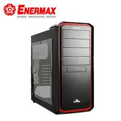 【ENERMAX 安耐美】 黑魅騎士 電競機殼 黑紅【三井3C】
