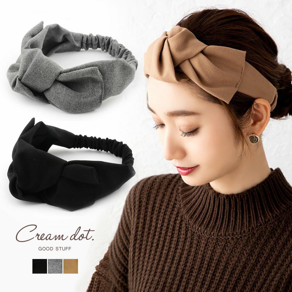 日本CREAM DOT  /  俏皮蝴蝶結寬版髮帶 髮飾  /  a03615  /  日本必買 日本樂天直送(1790) 0