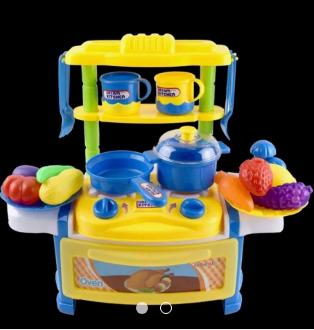【晴晴百寶盒】平價擬真小廚房扮家家酒 我是小廚師益智遊戲 創意玩具 生日禮物 禮品 早教 模型 親子互動 A083