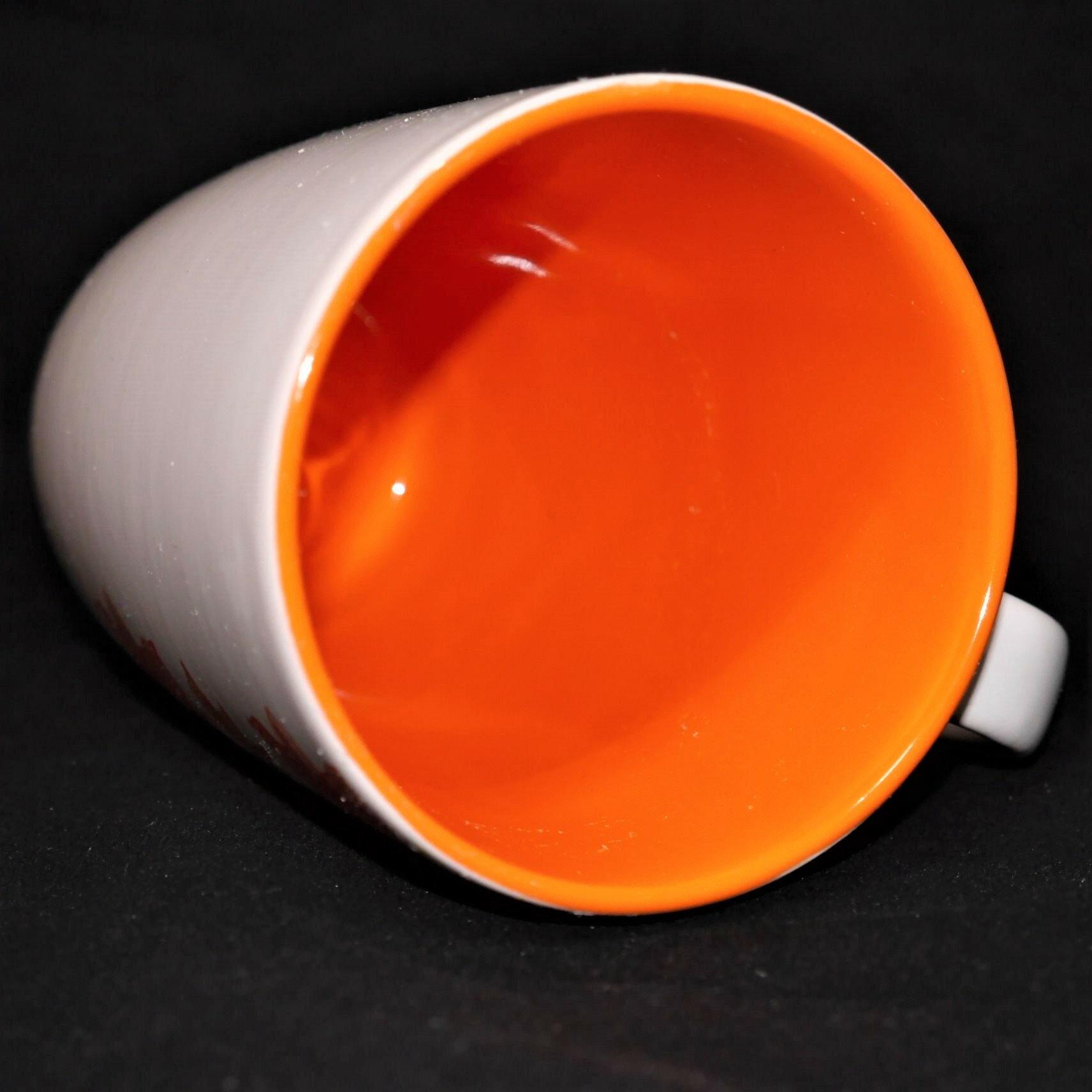 馬克杯橘色花草紋500ml【曉風】 3