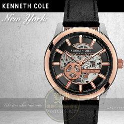Kenneth Cole國際品牌都會典藏機械品味腕錶KC10031275公司貨/禮物/情人節