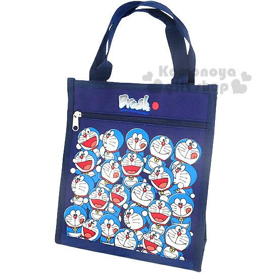 〔小禮堂〕哆啦A夢 直式手提便當袋《深藍.多動作滿版》輕巧好攜帶