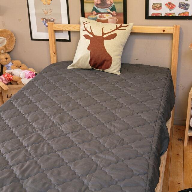 鐵灰床包式保潔墊 雙人5X6.2 抗菌防污  台灣製  厚實鋪棉 可水洗 1