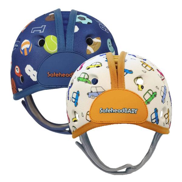 英國 SafeheadBABY 幼兒學步防撞安全帽/防撞帽/護頭帽(運動明星|噗噗汽車)