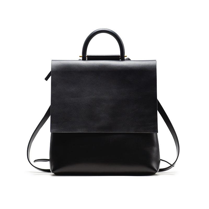 YAMA MIZU 全手工銅飾 極簡牛皮後背包