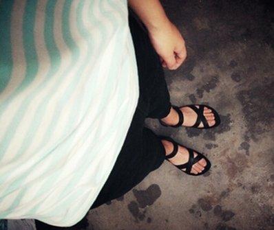 【JP.美日韓】韓國 簡約時尚 羅馬鞋 涼鞋 防水拖鞋 矽膠 質感 海灘 下水 綁帶 調整 編織 羅馬涼鞋