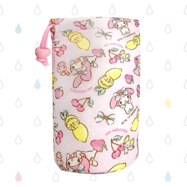 日本美樂蒂保冷水壺套卡通造型方便攜帶收納袋日本進口正版573603