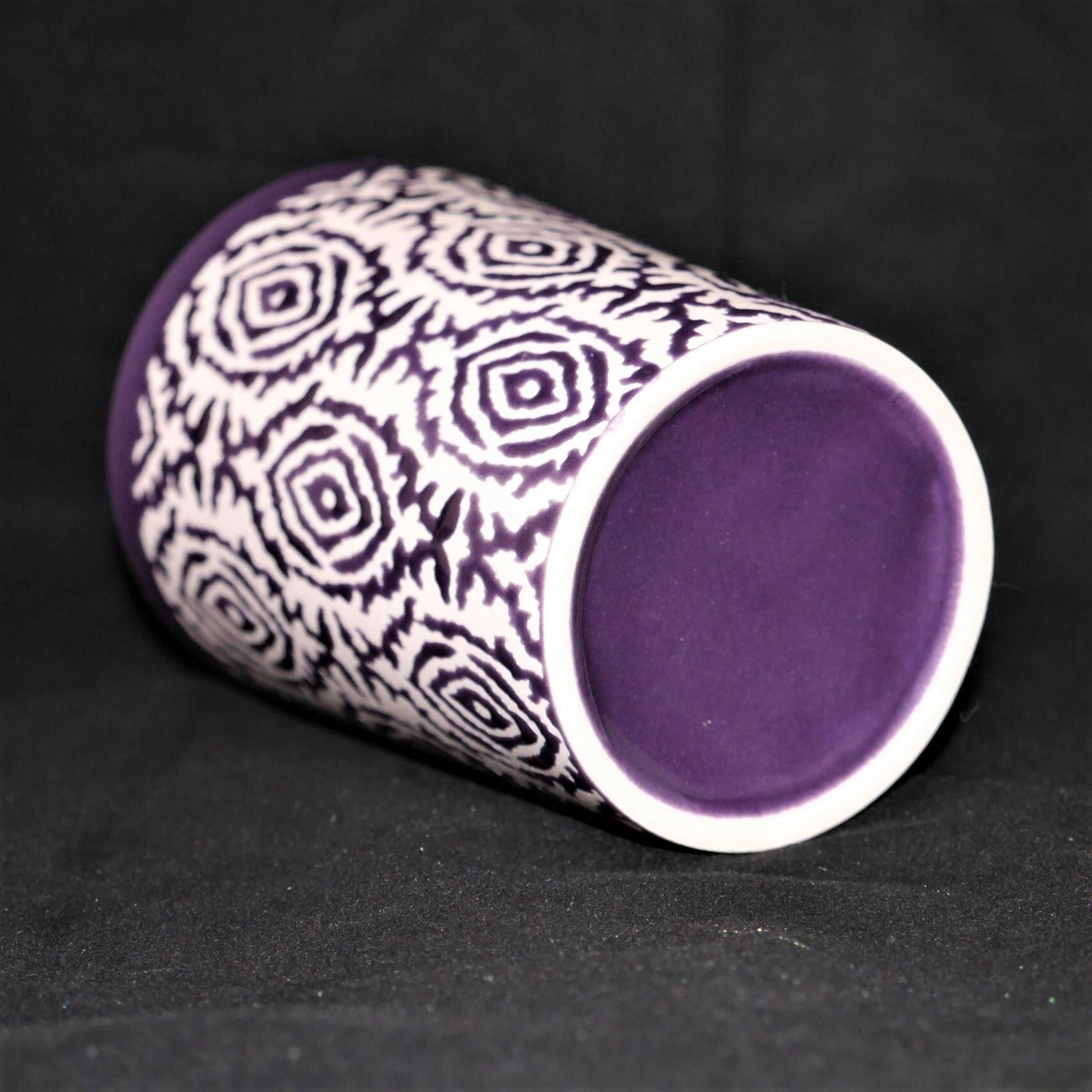 馬克杯紫色幾何紋500ml【曉風】 3