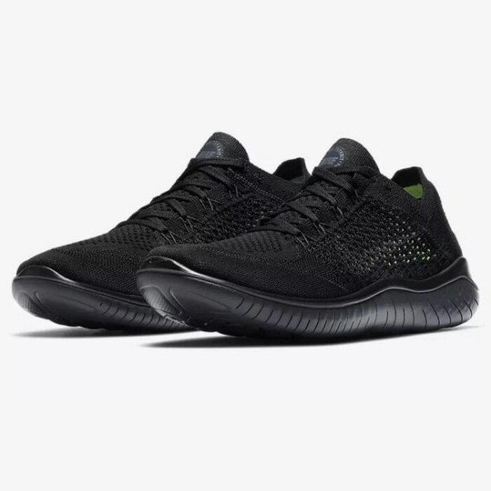 Nike Free RN Flyknit 2018 男鞋 慢跑 休閒 編織 透氣 黑 【運動世界】942838-002