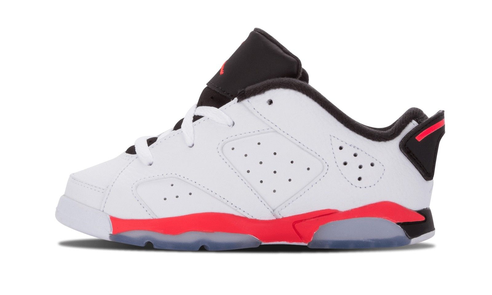 NIKE AIR JORDAN 6 RETRO LOW 白 紅 黑 幼童鞋 US 6 768883-123 J