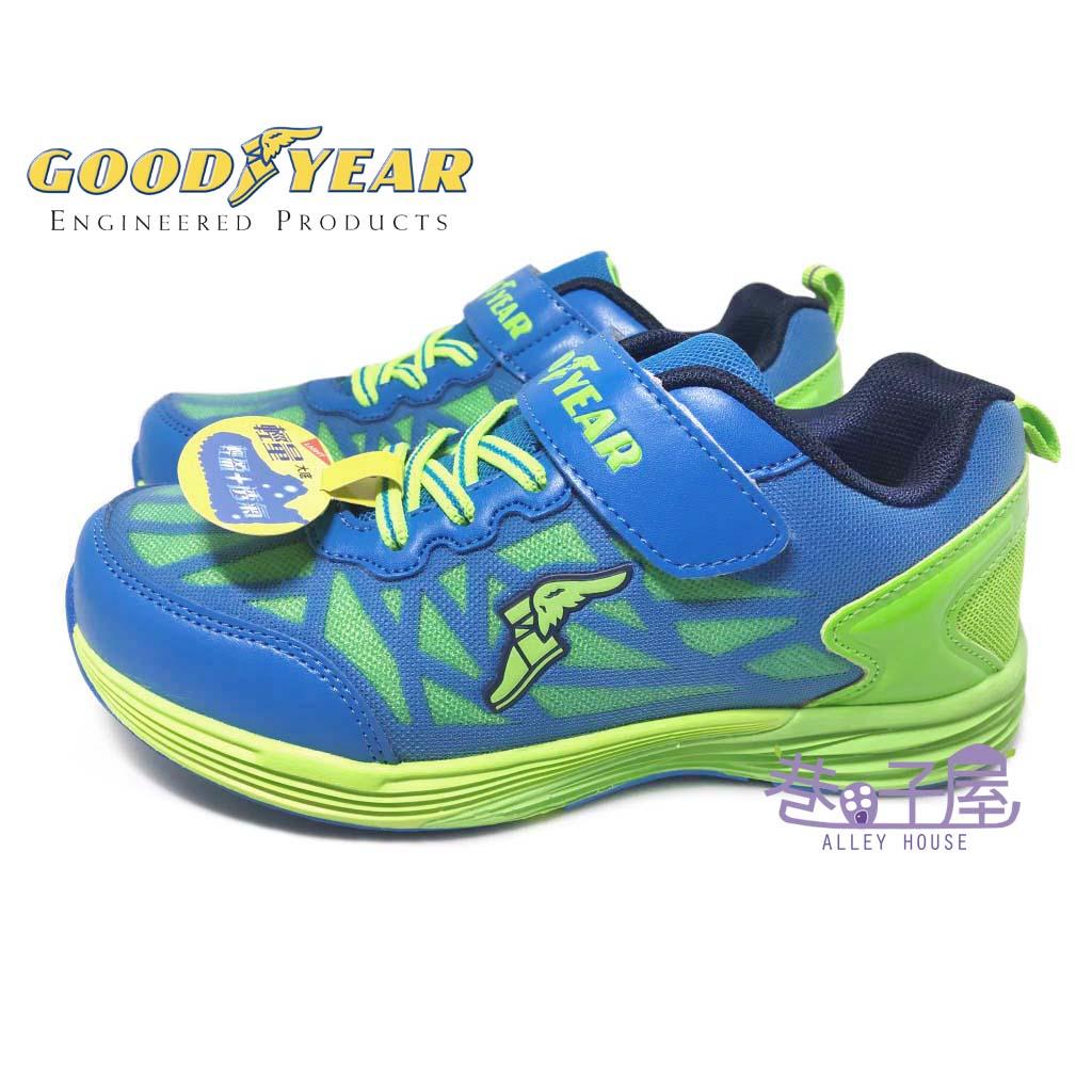 【巷子屋】GOODYEAR固特異 男童輕量機能運動慢跑鞋 [68405] 藍綠 超值價$498