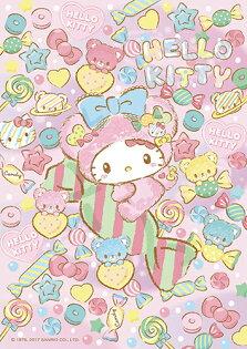 P2拼圖網:HelloKitty糖果點心拼圖108片-107