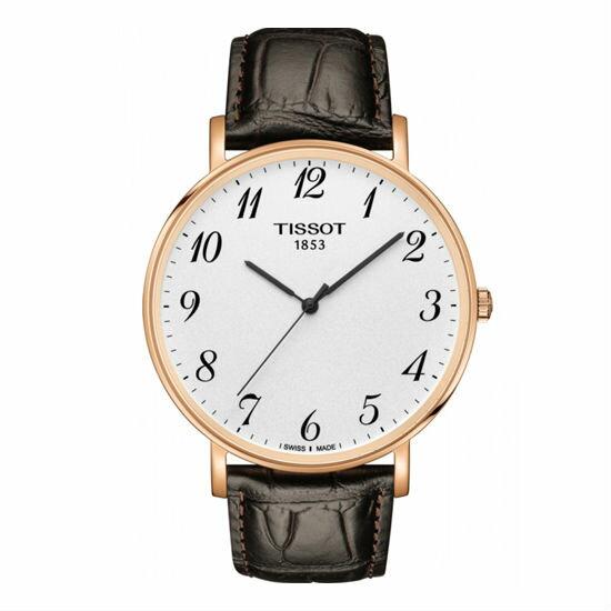 TISSOT天梭表T1096103603200Everytime經典時尚紳士石英腕錶白+玫瑰金42mm