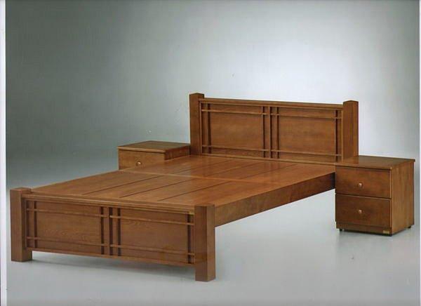 尚品傢俱】919-03可可羅橡木全實木5尺床組~另有6尺、3.5尺