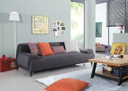 【簡單家具】,S134-3 樂布朗三人位布沙發,大台北都會區免運費,組裝定位到好!
