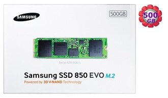 SAMSUNG SSD 850 EVO M.2 500GB 500G MZ-N5E500BW SATA III Internal Solid State Drive 內接式 筆電固態硬碟