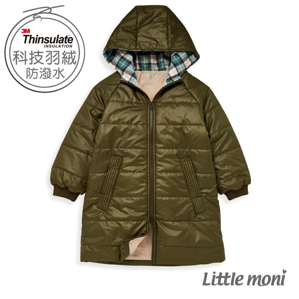Little moni 3M科技羽絨保暖長版外套-軍綠(好窩生活節) 0
