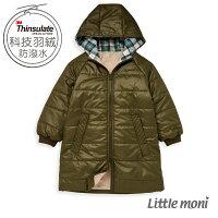 婦嬰用品-童裝推薦Little moni 3M科技羽絨保暖長版外套-軍綠(好窩生活節)。就在麗嬰房婦嬰用品-童裝推薦