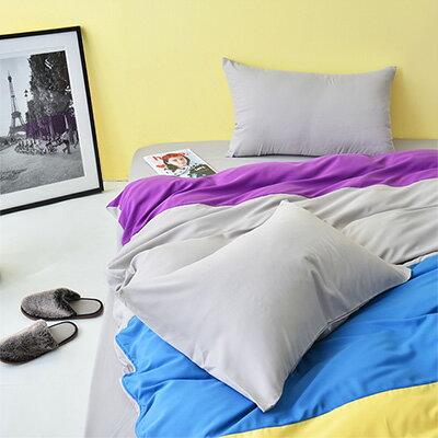 3M吸濕排汗 - Pure One 水漾彩-灰-雙人三件式床包組