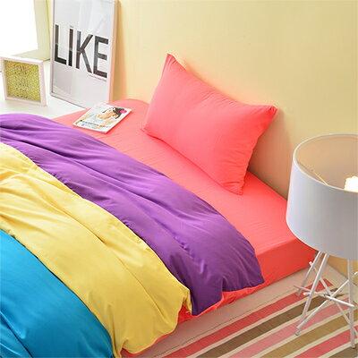 3M吸濕排汗 - Pure One 水漾彩-粉-雙人三件式床包組