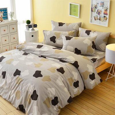 Pure One:PureOne印象派-灰-單人純棉三件式床包被套組