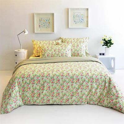 Pure One:PureOne春紛漾彩-單人精梳棉三件式床包被套組