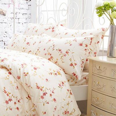 Pure One:PureOne微風花漾-單人精梳棉三件式床包被套組