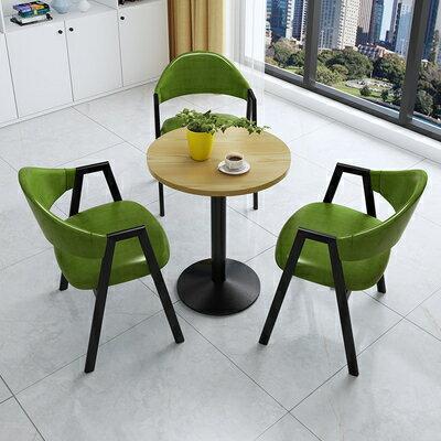 接待洽談桌簡約接待洽談桌椅組合辦公室售樓部休息區店鋪陽臺休閒小圓餐桌椅『DD2229』 5