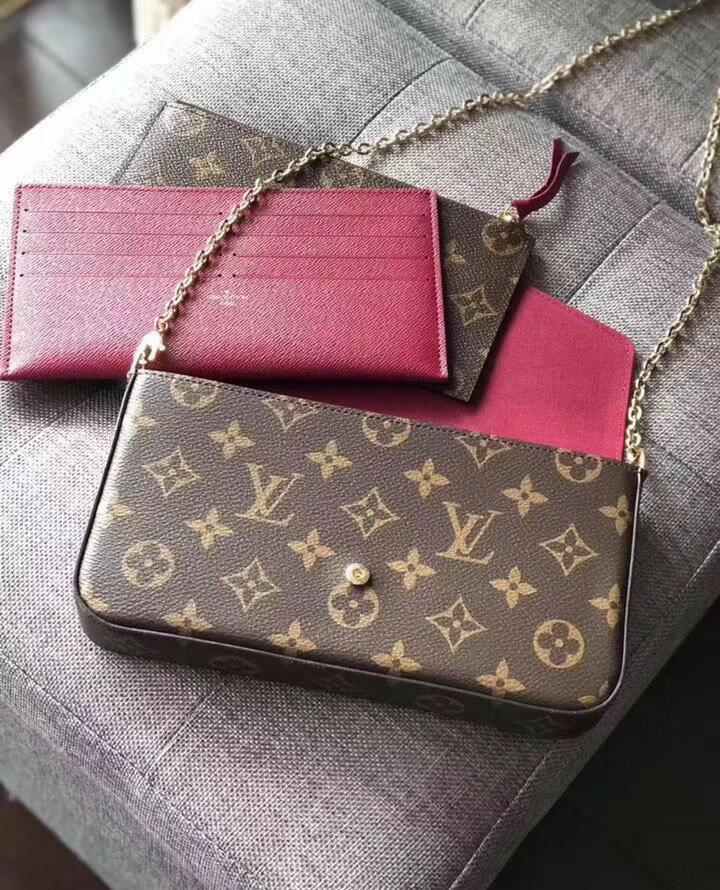 【Go時尚】Louis Vuitton WOC monogram 鍊包 LV斜肩背 信封包M61276
