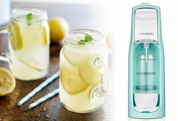 Sodastream Jet Pastel馬卡龍色氣泡水機【藍】 送美國Ball 梅森玻璃杯16 OZ*2個