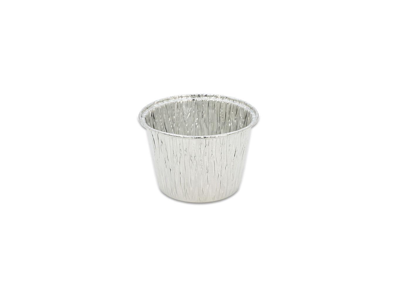鋁箔容器、錫箔、烤模、 蒸蛋杯、圓形 210 (125pcs/包)(透明蓋)